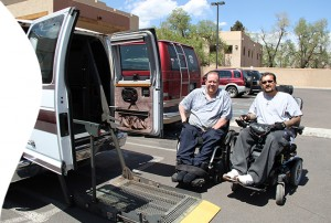 Frank with his new van from The IC and Friends of Man