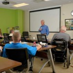 Pat Going leading the training class for The Red Cross Emergency Preparedness for People with Disabilities.