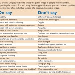 Disability Etiquette Words Do Say Don't Say