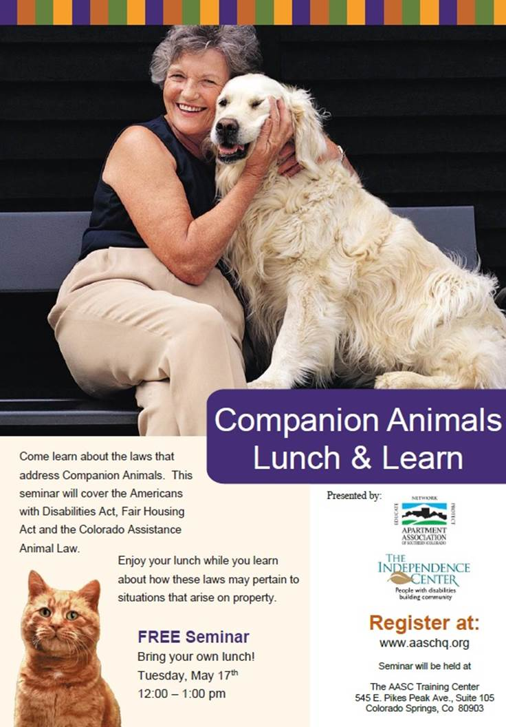Companion Animals Lunch & Learn Flyer