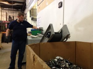 Blue Star Recyclers hard disk drive shredding system