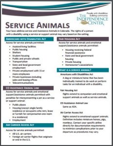 Service Animal Brochure Thumbnail