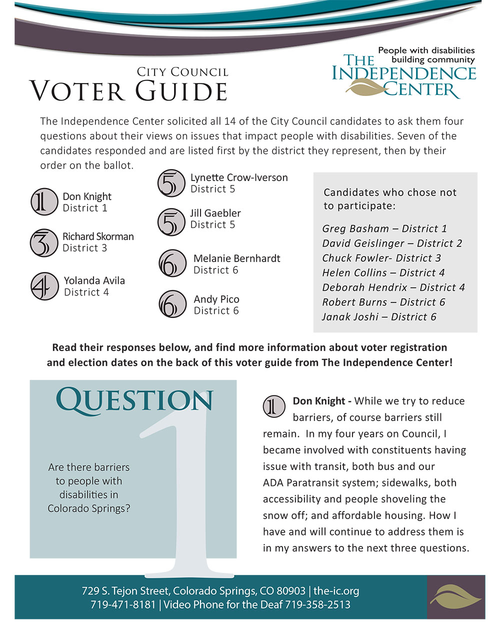 Click here to access the PDF file of the Get out the Vote informational flyer