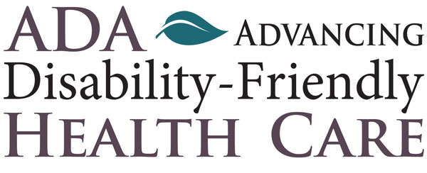 ADA-Advancing Disability-Friendly Health Care Logo