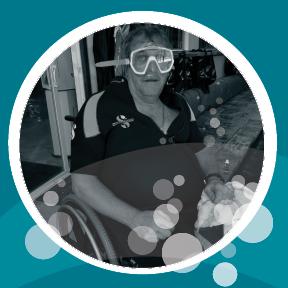 Tim Ashley in his scuba gear