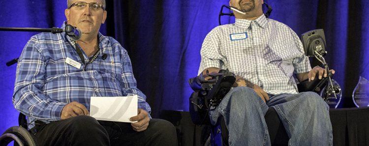 Tim Ashley with Tony Wilkins