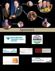 2018 ADA Event Sponsors- Rocky Mountain Health Care, Relay Colorado, Kaiser Permanente, Cascade Investment Group, Denver Management Advisers, 1st Bank, Rocky Mountain ADA Center,