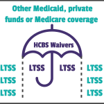 LTSS can be paid for by HCBS Waivers, other Medicaid private funds, or Medicare coverage