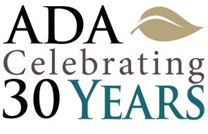 ADA - Celebrating 30 Years Logo