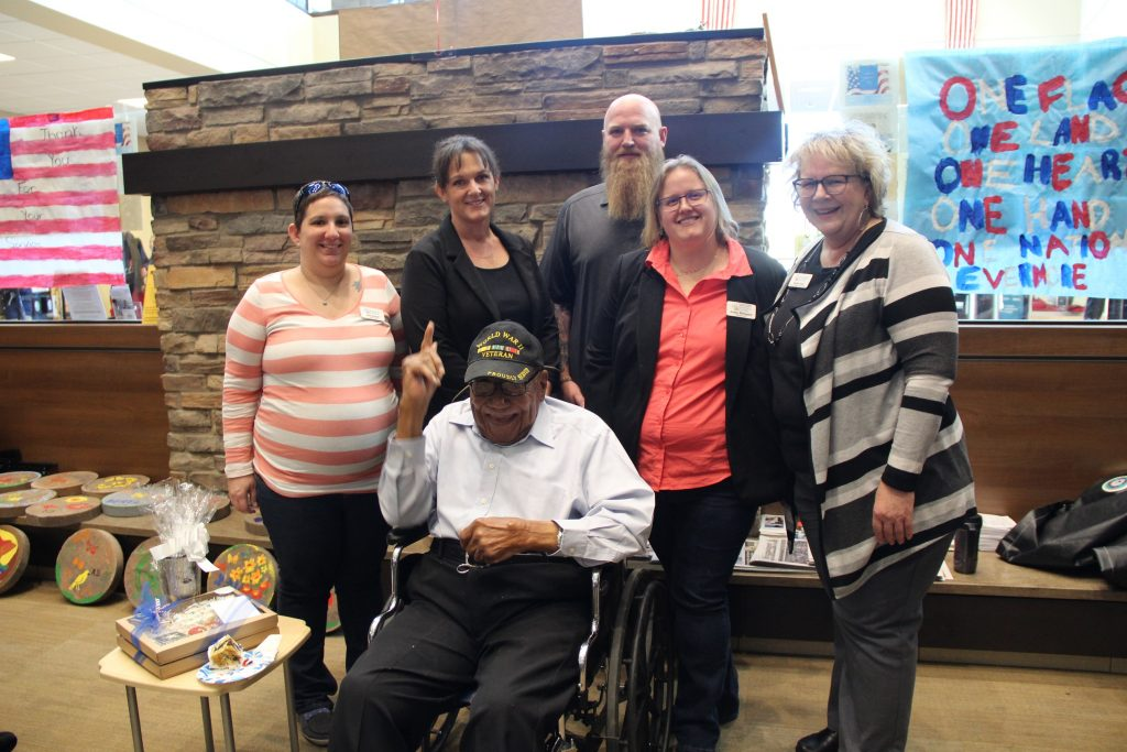 Photo of Alfred C. Mosley with the Veteran in Charge team.
