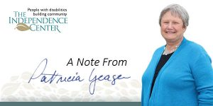 image of patricia yeager with the words: a note from patricia