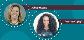 Image: Photos of Jaime HArrell and Maritta Coffey