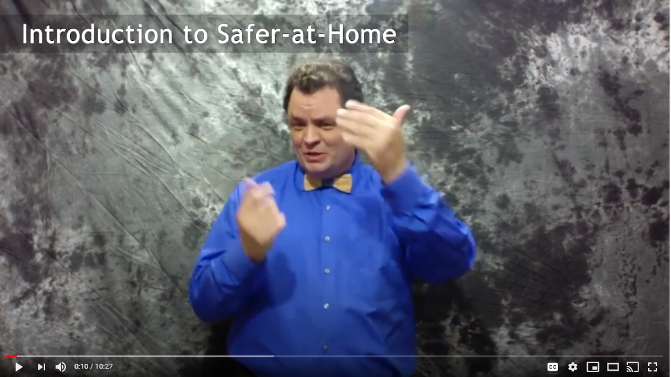 Image of sign language interpreter on video