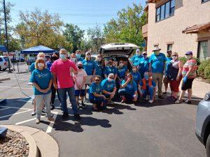 Group of mobile food pantry volunteers