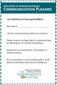 Deaf Communications Placard