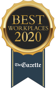 Gazette Best Workplaces 2020 Seal